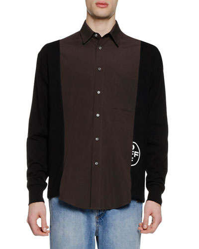 Men's Hybrid Colorblock Shirt