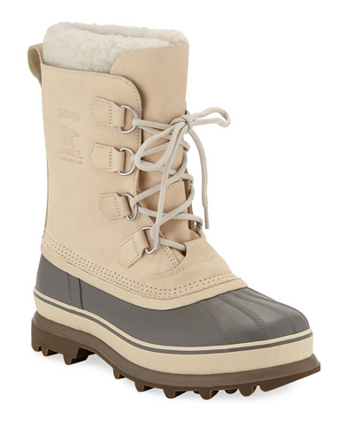 Men's Caribou Faux Sherpa-Lined All Weather Waterproof Duck Boots