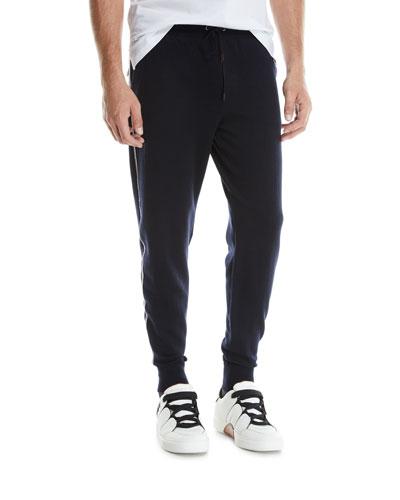 Men's Side-Stripe Drawstring Jogger Pants