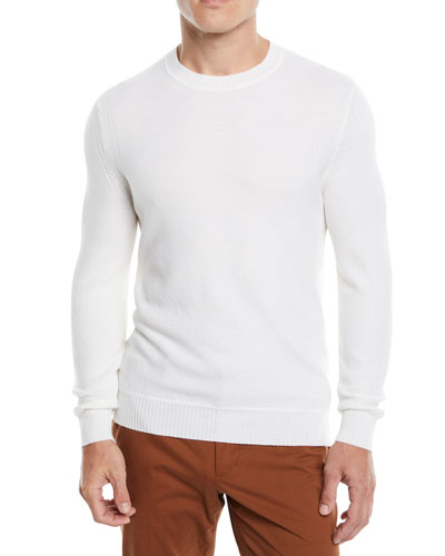 Men's Wool-Cashmere Crewneck Sweater