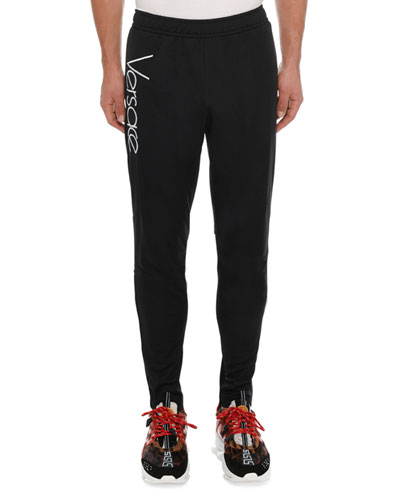 Men's Tapered Sweatpants with Logo Print