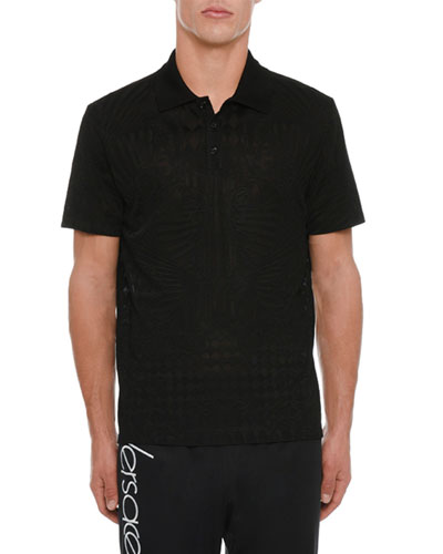 Men's Tonal-Print Polo Shirt