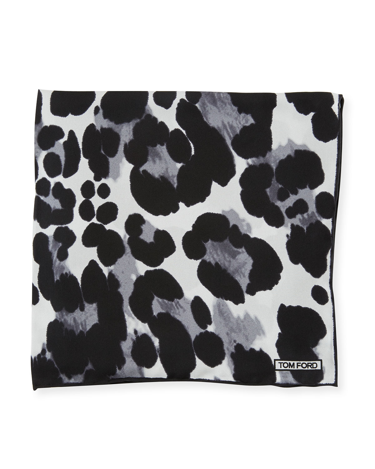 Animal-Print Silk Pocket Square