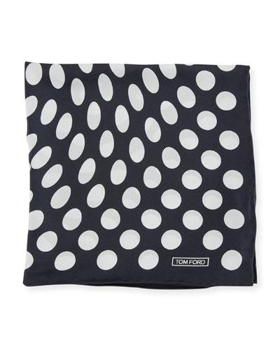 Large Dot Pocket Square