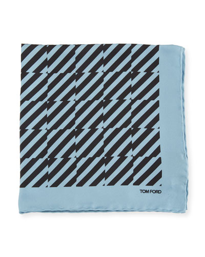 Striped Silk Pocket Square