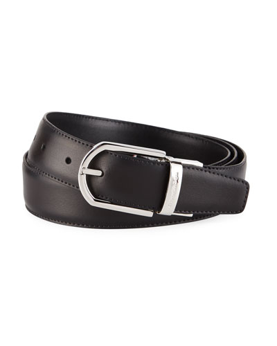 Men's Reversible Leather Belt, Brown