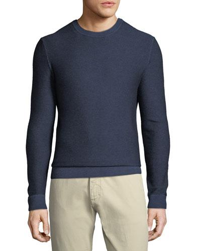 Men's Cashmere Garment Dyed Crewneck Sweater