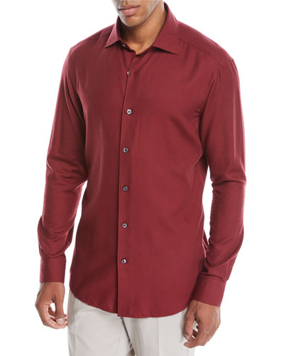Men's Cashmere-Blend Sport Shirt
