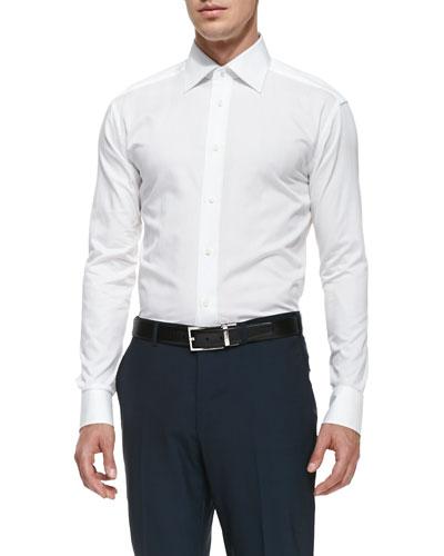 Woven Poplin Dress Shirt, White