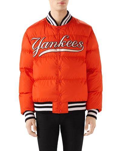 Men's New York Yankees MLB Patch Puffer Jacket