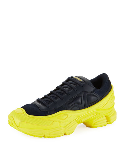 Men's Ozweego Dipped Color Trainer Sneakers, Blue/Yellow