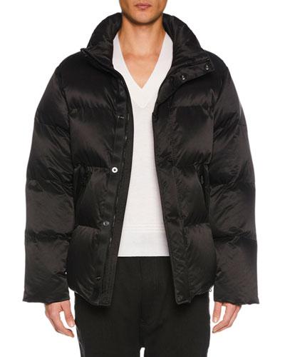 Men's Funnel-Neck Puffer Jacket
