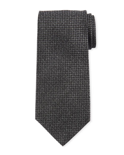 TOM FORD Men's Houndstooth Silk Tie