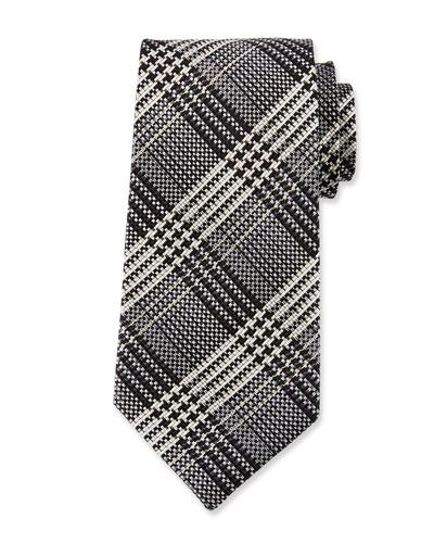 TOM FORD Men's Two-Tone Plaid Silk Tie
