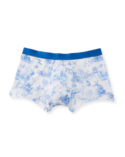 Japan 1 Toile-Print Hipster Boxer Briefs