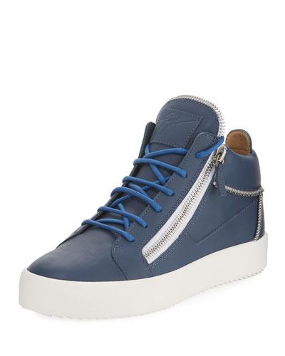 Men's High-Top Multi-Zip Sneaker