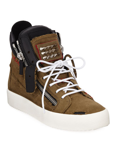 Men's Chaos Studded High-Top Sneakers