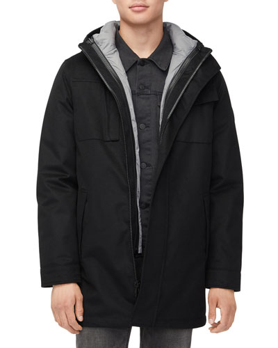Men's Copeland System Parka Coat with Removable Jacket