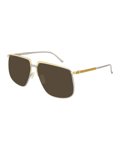 Men's Flat-Top Two-Tone Sunglasses