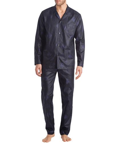 Men's Select Damask-Pattern Pajama Set