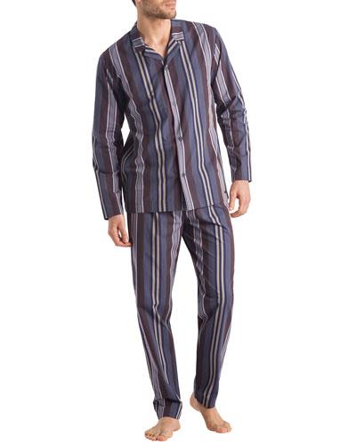 Noe Striped Classic Two-Piece Pajamas