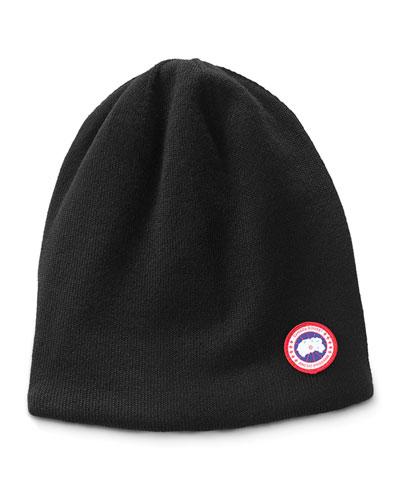 Canada Goose Men's Standard Logo Toque Winter Beanie