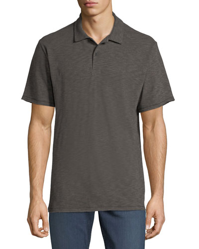 Men's Owen Stripe Linen/Cotton Polo Shirt