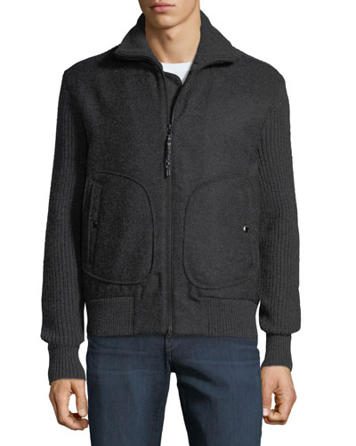 Men's Carson Wool Zip-Front Jacket