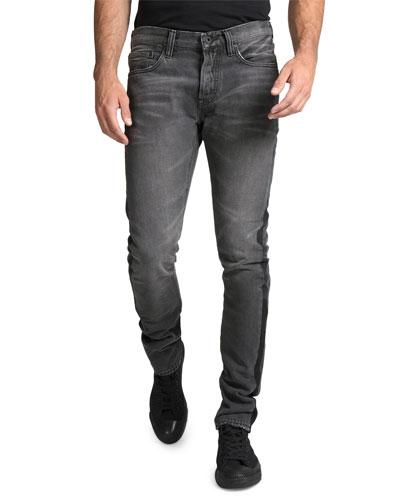 Men's Le Sabre Multi-Wash Side-Stripe Tapered Jeans