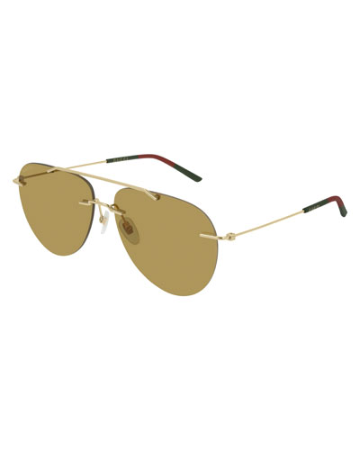 Men's GG0397S005M Mirrored Sunglasses