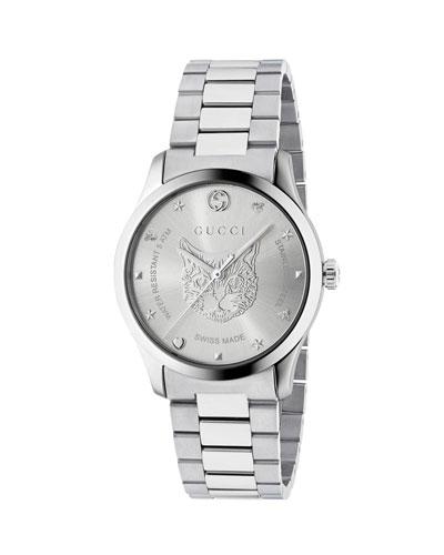 40cbd5e338a Men s Feline Head Stainless Steel Bracelet Watch Quick Look. Gucci