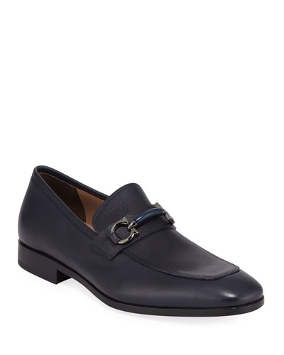 Men's Benford Gancini-Bit Leather Loafer