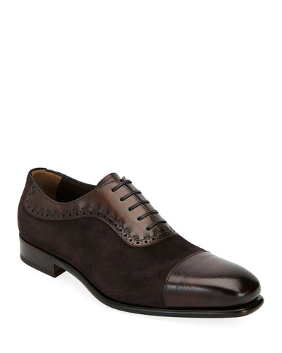 Men's Two-Tone Derby Dress Shoes