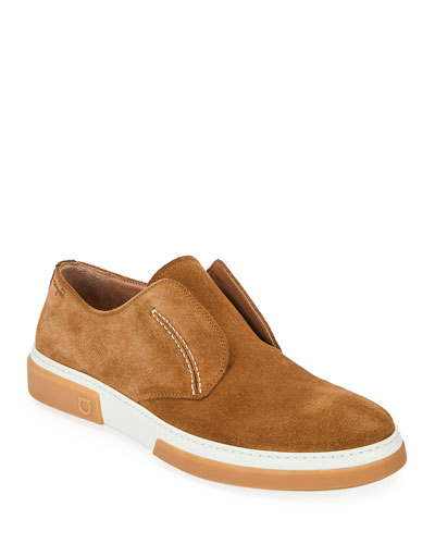Men's Amber Suede Slip-On Sneakers