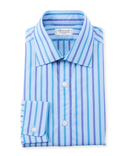 Men's Large Stripes Dress Shirt