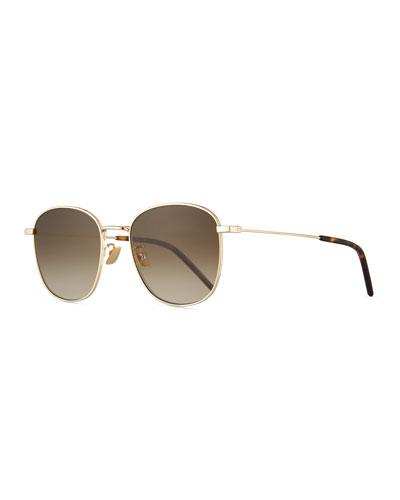 9660918df07 Men s Square Metal Aviator Sunglasses with Gradient Lenses