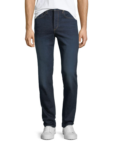 Men's Standard Issue Fit 3 Loose-Fit Straight-Leg Jeans, Dark Blue