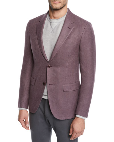 Men's Button-Up Silk Blazer