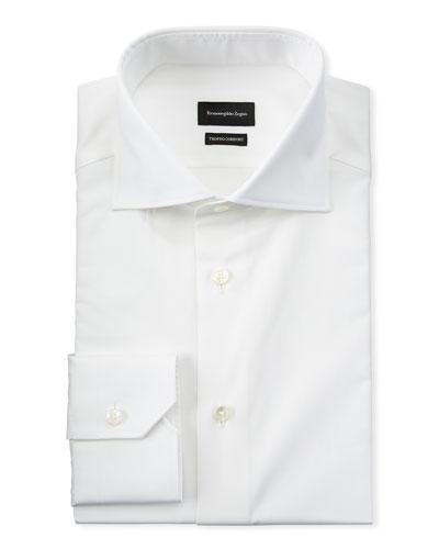 Men's Long-Sleeve Solid Dress Shirt