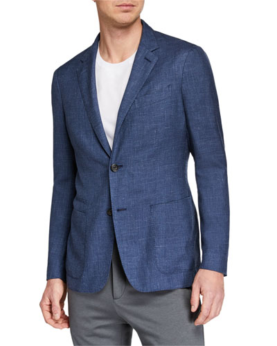 Men's Heathered Cashmere-Blend Two-Button Blazer