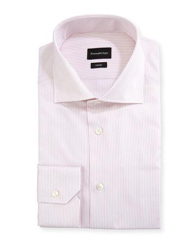 Men's Trofeo Striped Cotton Dress Shirt