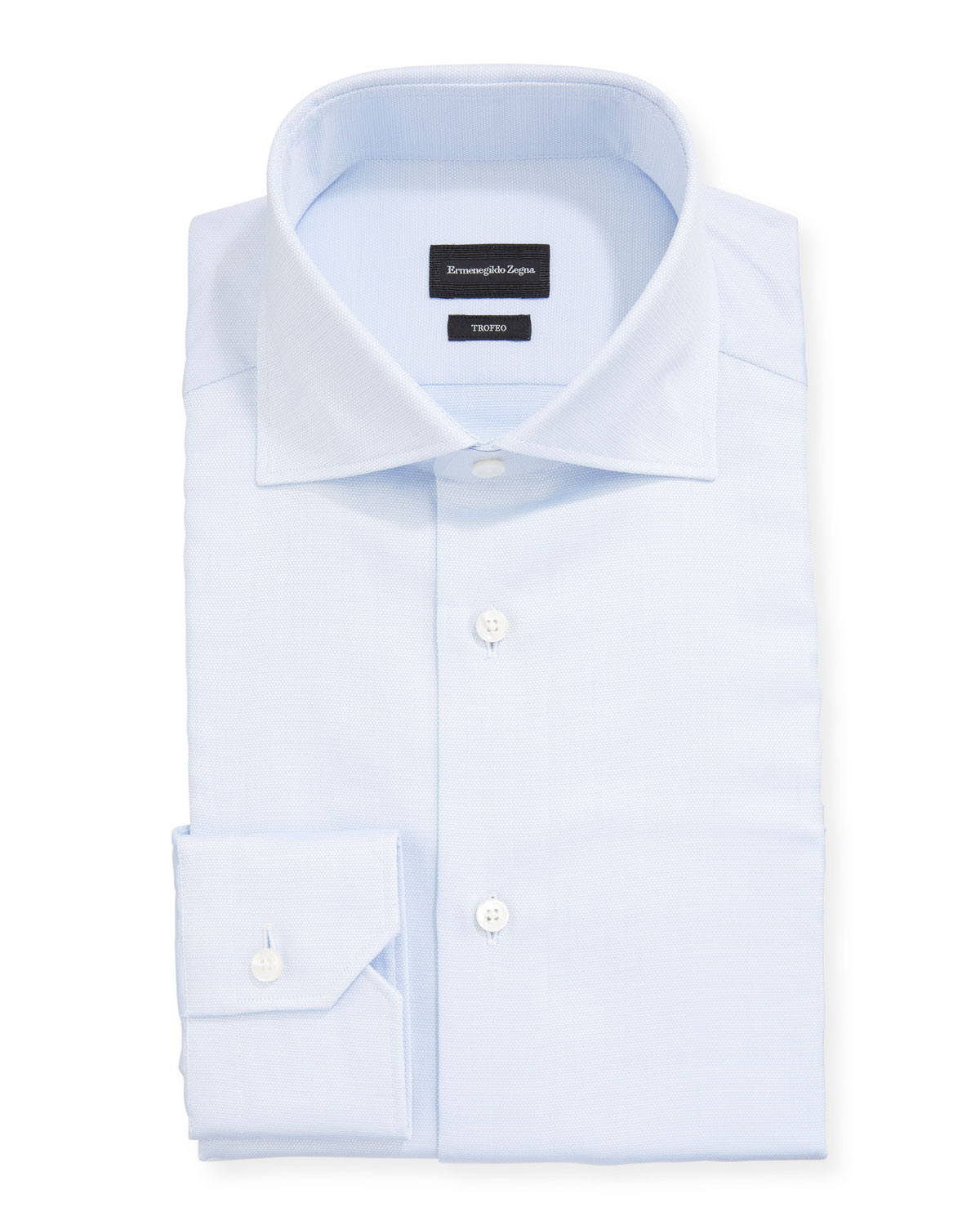 Ermenegildo Zegna Dresses MEN'S TROFEO SOLID COTTON DRESS SHIRT
