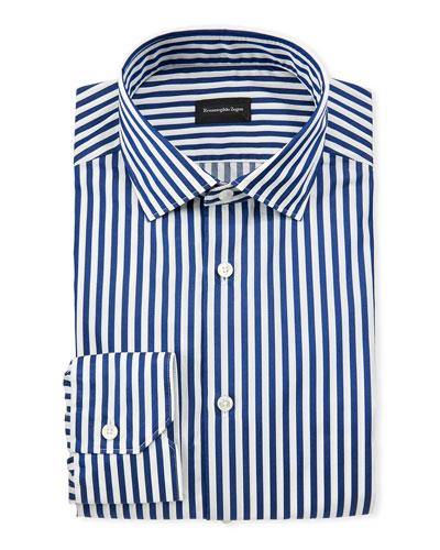Men's Washed Bengal Stripe Dress Shirt