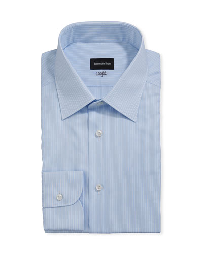 Men's 100fili Bengal Striped Dress Shirt