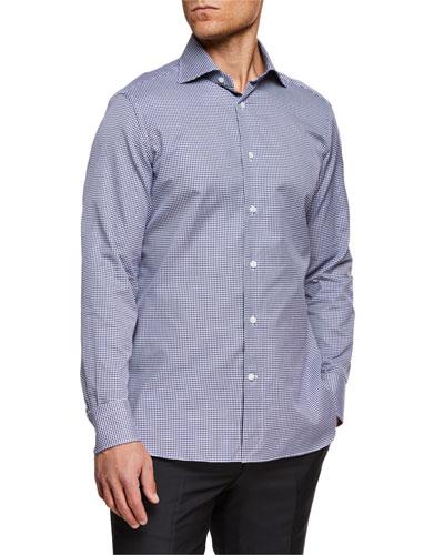 Men's Trofeo Cotton Gingham Check Dress Shirt