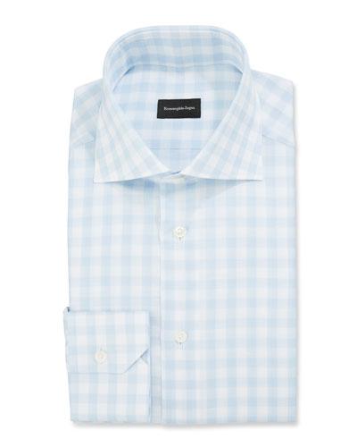 Men's Large-Gingham Dress Shirt