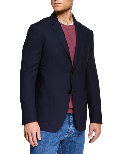 Men's Packaway Wool Two-Button Jacket