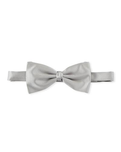 Self-Tie Silk Satin Bow Tie