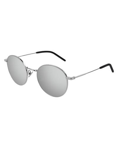 2e0482c5067 Men s Round Metal Mirrored Sunglasses