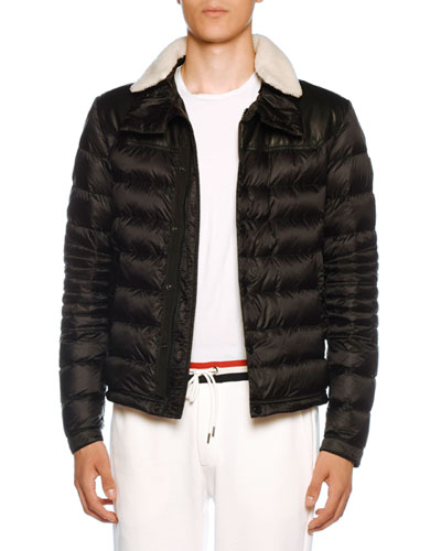 89edd4db49a9 Men's Vasserot Fur-Trim Puffer Jacket Quick Look. Moncler